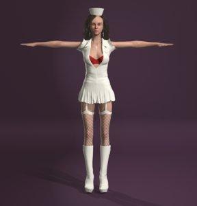 3D white nurse