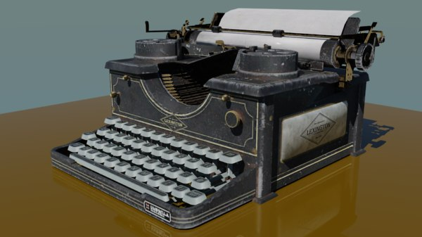 antique type writer lexington 3D model