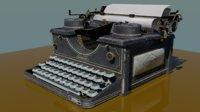 antique type writer lexington 3D model
