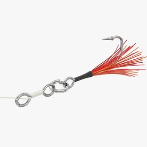 fishing hook 3D model