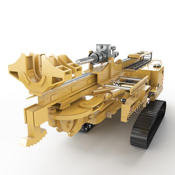 3D anchor drill rig model