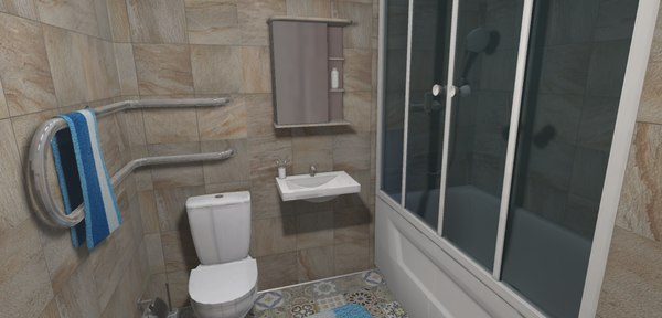 vr restroom - intrerior model