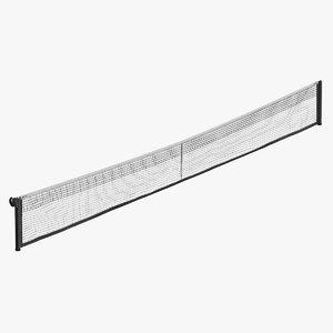 3D model tennis net -