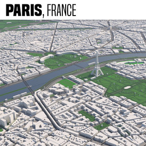 3D model paris maps buildings