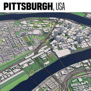 pittsburgh maps 3D