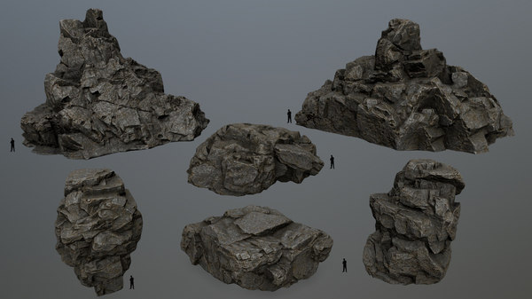 3D model rock cliff