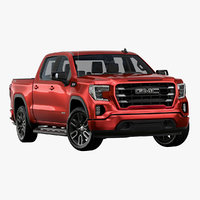 3D 2019 gmc sierra elevation