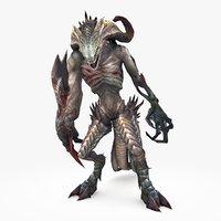 monster type b 3D model