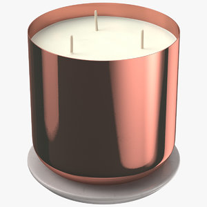 scented candle big metal 3D model