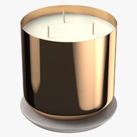 3D scented candle big metal model
