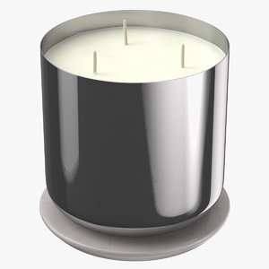 3D model scented candle big metal