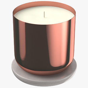 3D scented candle small metal