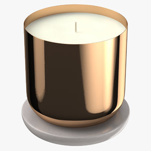 3D scented candle small metal model