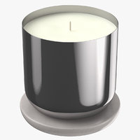 3D model scented candle small metal