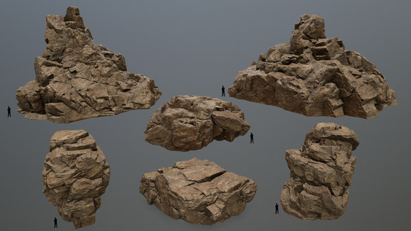3D desert rock