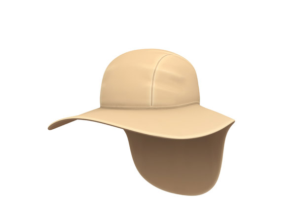 fishing flap hat 3D model
