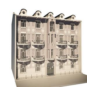 3D tenement house