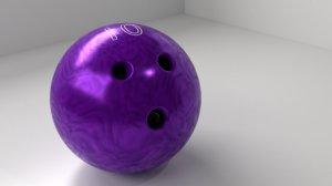 3D bowling ball 10 p model
