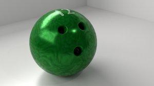3D model bowling ball 12 p