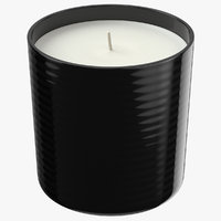 single wick scented candles 3D