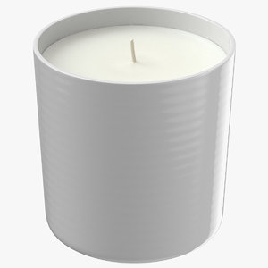 3D single wick scented candles model