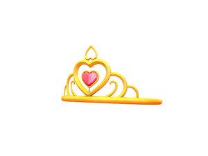3D princess tiara