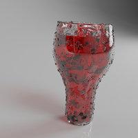 3D glass modeled