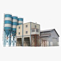 cement plant factory 3D model
