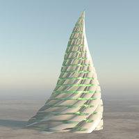 sci - fi spiral 3D