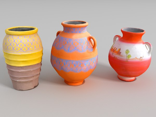 3D moroccan pitchers pack 3