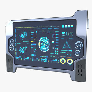 3D sci-fi touch pad