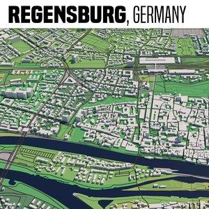 city regensburg 3D