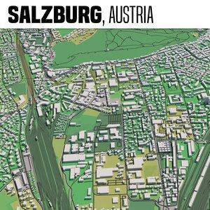 city salzburg 3D model