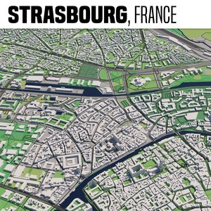 3D city strasbourg model