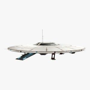3D flying saucer model