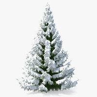 winter snow spruce tree 3D model