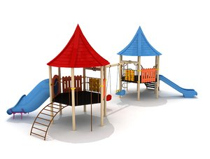 hexagon metal kid playground model