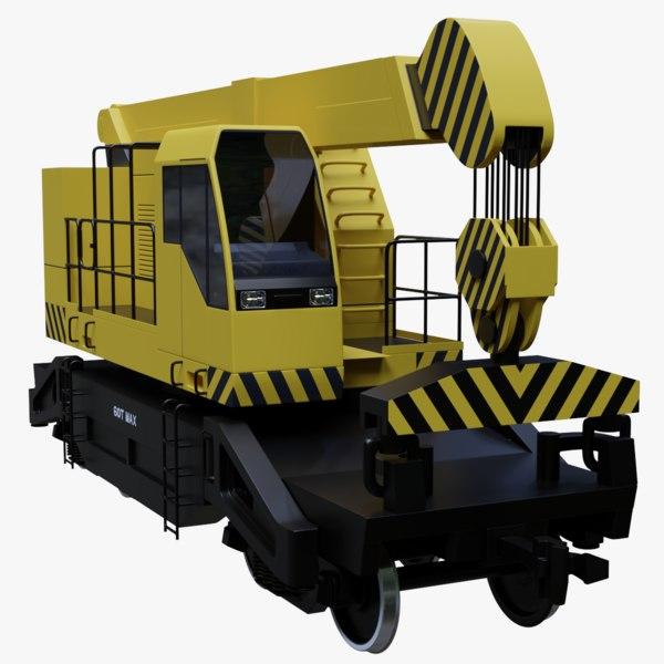 railroad crane railings model