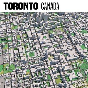 3D city toronto model