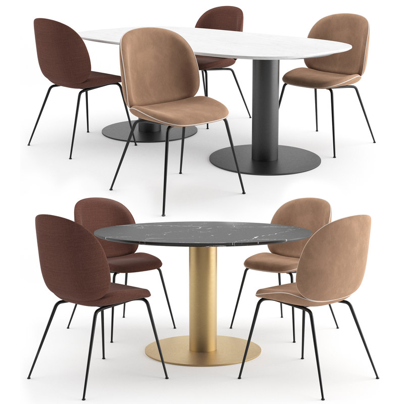 3D model beetle dining chair gubi