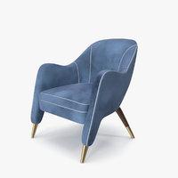 armchair blue 3D