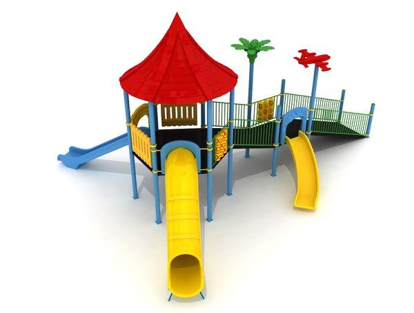 3D playground metal play