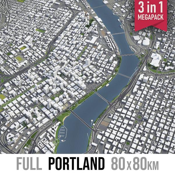 3D portland area town