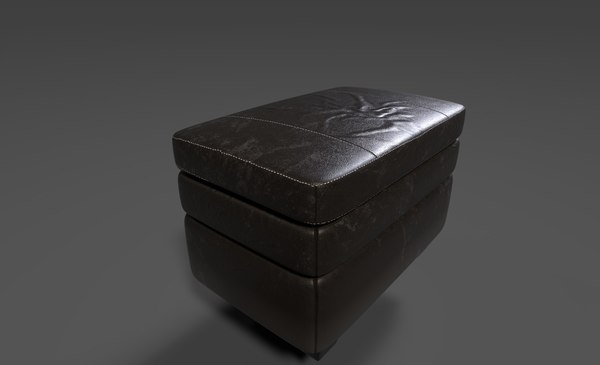 3D ottoman chair pbr model
