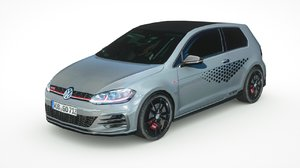volkswagen golf gti 2019 3D model