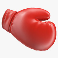 boxing glove rigged 3D