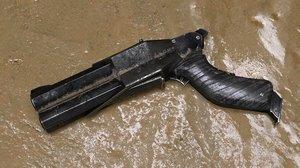 3D quake style gun model
