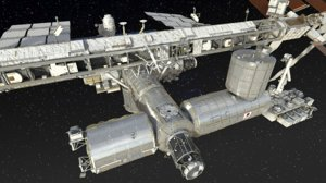 3D international space station 2019 model