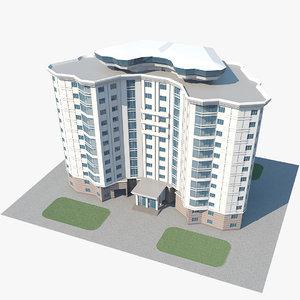3D realistic civil building model
