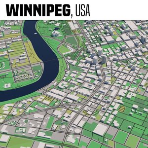 winnipeg manitoba 3D model
